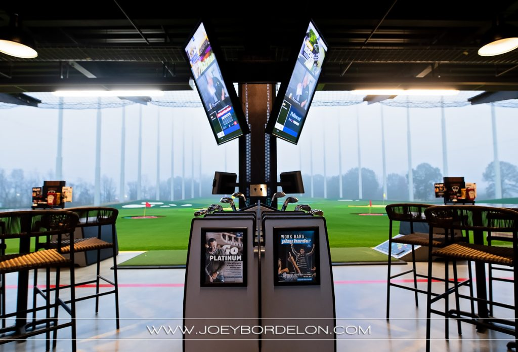 Top Golf Baton Rouge location's bay area (with tvs)